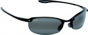 Maui Jim 405-02 Black Mahaka Wrap Polarised Sunglasses