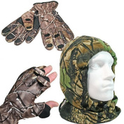 Winter Warmers Camo Snood And Gloves Hunter Fishing Gift Idea
