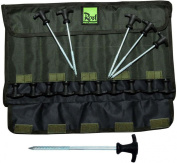 Rod Hutchinson Fishing Tackle - 20cm Bivvy Tent Pegs and Bag - 20 Per pack