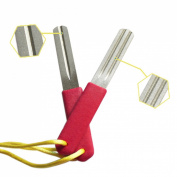 Andux Fly Fishing Hook Hone Sharpening Grooves Hook Sharpener F-MG01