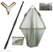 110cm CARP FISHING LANDING NET with DUAL NET FLOAT SYSTEM + 2M HANDLE NGT