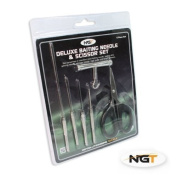NGT Stainless Steel Fishing Tackle 6 Tool Set - Braid Scissors & Baiting Tools PLUS knot Puller