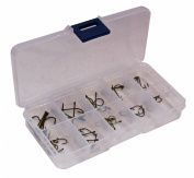 Fladen 60 Assorted Hooks in Tackle Box - Multi-Colour