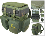 Fishing Seat Box & Rucksack. Ace Angling® Fly Sea Coarse Fishing Seat Backpack.