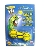 Ross Bain's Hook-Eze, multi function fishing tool for tying hooks, jigs and other rigs. Twin Pack Yellow