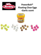 NEW TO EUROPE Berkley PowerBait® Power® Clear Eggs Floating Garlic Scent- SELECT 4 FOR £12