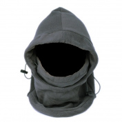 Multifunction Unisex Soft Thermal Fleece Balaclava Hood - Grey