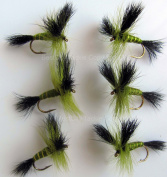 Fly Fishing MAYFLY 6 PACK- GREEN DRAKE Size 10 Trout Flies UK May fly
