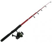 Junior / Beginners 2m Fishing Rod & Reel Set. Kit Includes Rod, Reel, Line & Holder. Suitable for Novices and Children / Kids.