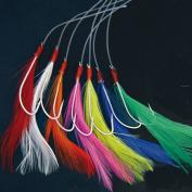 Shakespeare Mackerel Feather Coloured 7 x Hook Rig