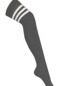 1 Pair 118 Socks Ladies Black Referee Football Overknee Socks Fancy Dress Party