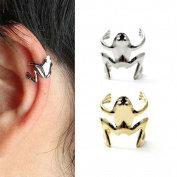HuntGold 1X Unisex Frog Design Alloy Ear Cuff Clip Wrap Earings Fashion Jewellery