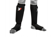 KIKFIT Black Elasticated Shin Insteps Guards MMA,KICK Boxing Martial Arts