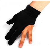 SSG UK NEW ONE PIECE BLACK THREE FINGER LEFT HAND SNOOKER POOL BILLIARD CUE SHOTTER GLOVES