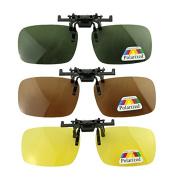 3x Men Women Polarised Polarizer Polarising Sunglasses Myopia Night Vision Glasses Convenient Clip-on Mirror