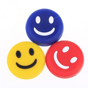 3pcs Silicone Smile Face Tennis Racquet Vibration Dampener Shock Absorber