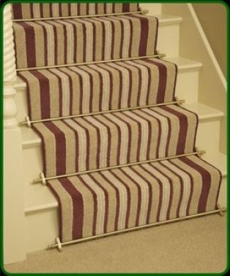 Stair Rods ~ Brass   Easy Rods To Fit   Good Quality Hollow Stair Carpet  Runner
