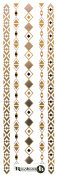 Beautiful Metallic Temporary Tattoos - Slim Sheets (Various Designs) by ReignBeau B