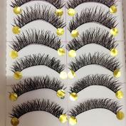 Pauler Vickers New Long Thick Cross 10 Pairs Makeup Beauty False Eyelashes Eye Lashes Extension
