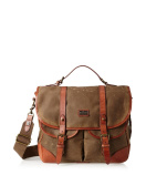 The British Belt Company Langdale Leather And British Waxed Canvas Satchel