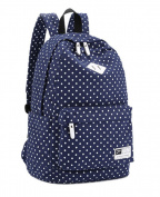niceEshop(TM) Casual Polk Dots Backpack Canvas Bookbag School Bags for Women
