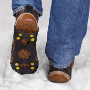 Rubber Anti Slip Shoe Ice Grips with 8 Studs for Traction on Ice and Snow, Size Medium Shoe Size 5 - 7 UK