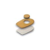 Tacco Relax Heel pad with Relief hole brown, Heel pain, Heel spurs
