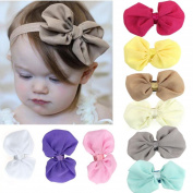 Baby Headbands Koly 9PCS Girls Chiffon Flower Elastic Headband Photography Headbands