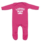 Ladies Man Baby Romper Sleep Suit