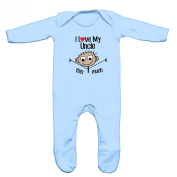 I Love My Uncle This Much Baby Romper Sleep Suit