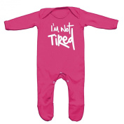 I'm Not Tired Baby Romper Sleep Suit