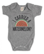 I Carried A Watermelon. Funny Slogan Girls & Boys Unisex Baby Grow
