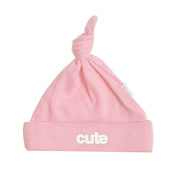 Cute baby hat white on pink by Snuglo, 0-6 months