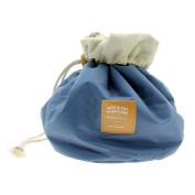 VANKER 1Pc Blue Lovely Women Travel Makeup Cosmetic Cylindrical Pouch Bag