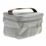 VANKER 1Pc Grey Practical Mini Small Portable Insulated Picnic Bag Lunch Container Box