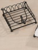 Pretty brown metal napkin/serviette holder, indoors or garden