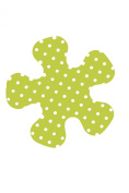 Papillon 37 cm Diameter Anti-Slip Pan Protector Set with White Dots, Set of 3, Green