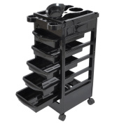 Salon Trolley Hairdresser Barber Beauty Storage Hair Drawers Spa Roller Cart