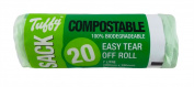 Caddy Liner 7L 20 Compostable Biodegradable Food Waste Bags