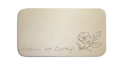 """Breakfast Board with German Text """"Dog"""" includes persons Engraving Board Breakfast Board Sign Garden Floral"""