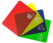 4 Flexible Chopping Mats Set | Colour Coded | Replacement Mats For Wimports Chopping Board