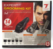 Tyche Professional 3 in 1 Grooming Kit- Clipper- 3 Head Shaver- Dual Phase Trimmer- Sissors