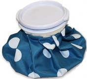 Ice Bag Blue Polka Dots Pain Relief Heat Pack Sports Injury First Aid Head Knee Joint Muscle Care Head Aches Bruices