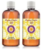 Deve Herbes Pure Corn Oil - Pack Of Two (100Ml + 100Ml) Zea Mays 100% Natural Cold Pressed