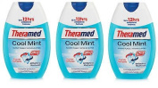 NEW 3 X THERAMED 2 IN 1 TOOTHPASTE & MOUTHWASH COOL MINT 75ML - TRAVEL DENTAL CARE