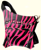 PROFESSIONAL HAIRDRESSING CUTTING BARBER SALON SCISSORS POUCH HOLDER HOLSTER BAG PINK ZEBRA FREE UK DELIVERY