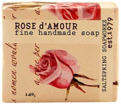 Saltspring Soapworks All Natural Botanical Soap Bar, Rose D'amour, 150ml