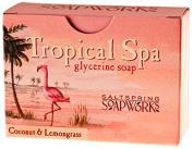 Saltspring Soapworks All Natural Tropical Spa Glycerin Soap Bar, Coconut and Lemongrass, 150ml