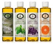 Castile Soap Variety Pack - 4 - 240ml bottles - Carolina Castile