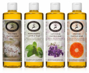 Castile Soap Variety Pack - 4 - 470ml Bottles - Carolina Castile